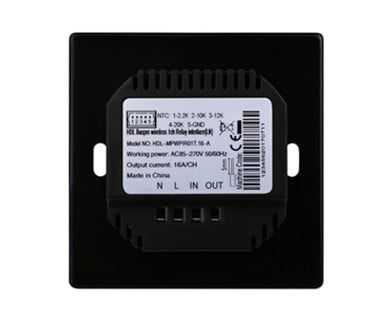 1CH Wireless Switch Power Interface EU with Temp. Sensor (L+N Type) Image