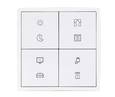 KNX Tile Series 4 Buttons Panel B Image